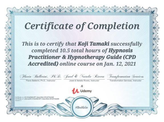 Hypnosis Practitioner & Hypnotherapy Guide(CPD Accredited) / Flavio Ballerini, Ph.D 催眠術施術者&催眠療法ガイド(CPD認定) / フラヴィオ・バレリーニ博士